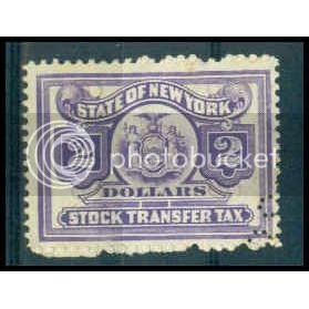 N.Y Stock Transfer $2 Used Fine WA2888