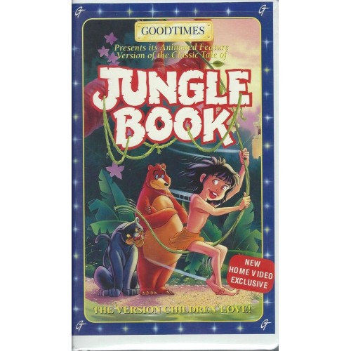 The Jungle Book (VHS, Animated Goodtimes Video)