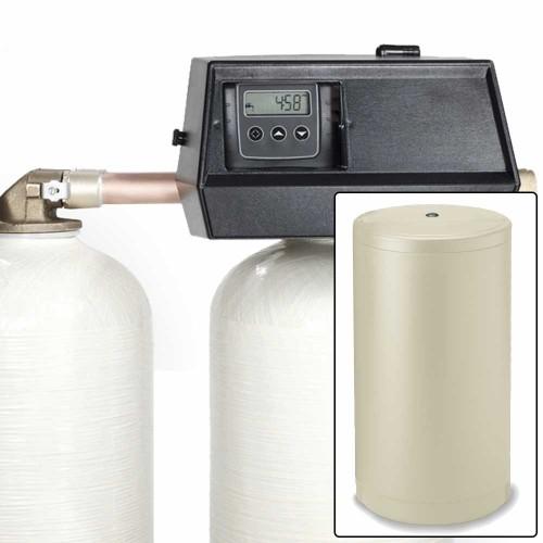 64k Digital Dual Tank Alternating IRON PRO Water Softener with Fleck 9000SXT