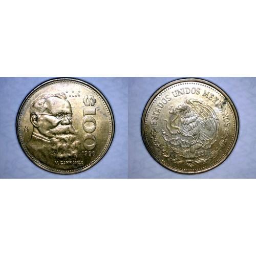 1990 Mexican 100 Peso World Coin - Mexico Carranza