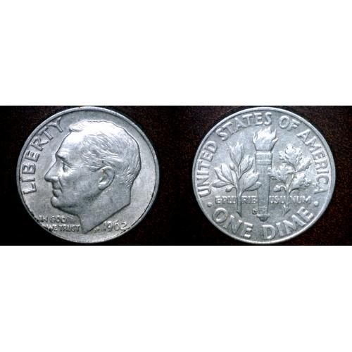 1962-D Roosevelt Dime Silver