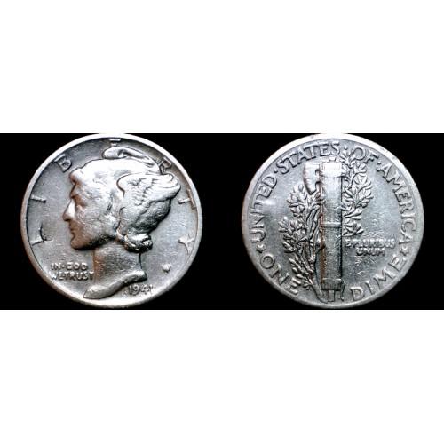 1941-P Mercury Dime Silver