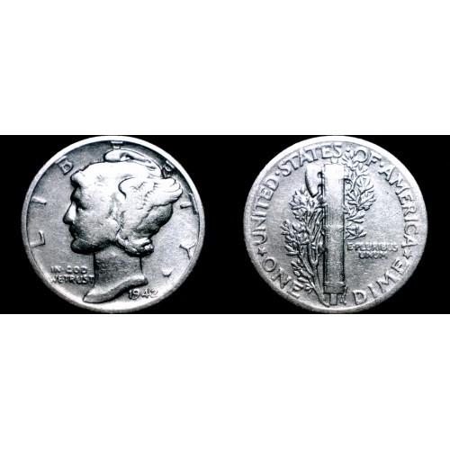 1942-P Mercury Dime Silver