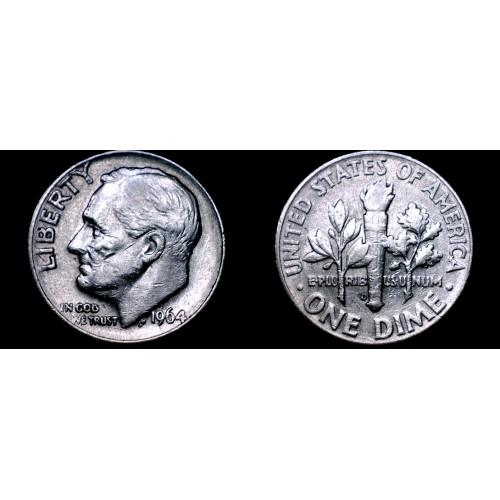 1964-D Roosevelt Dime Silver