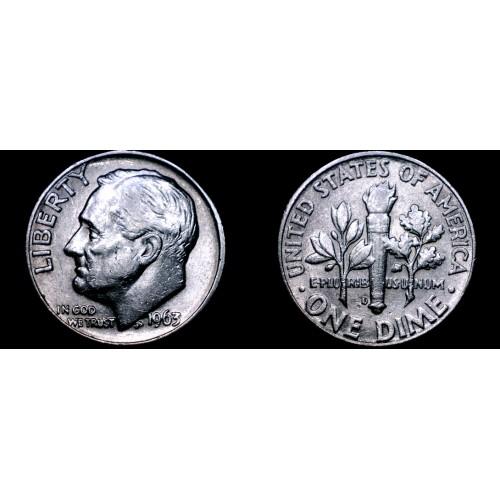 1963-D Roosevelt Dime Silver