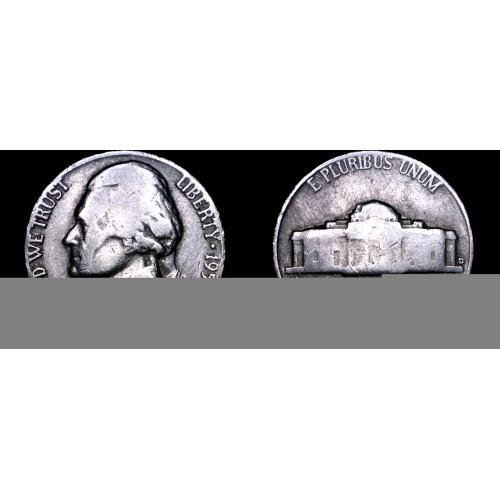 1953-D Jefferson Nickel
