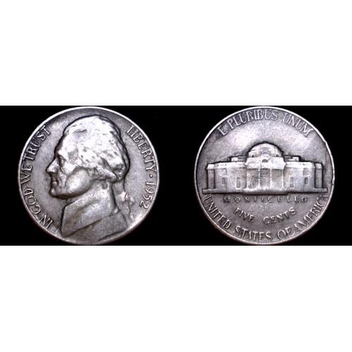 1952-P Jefferson Nickel