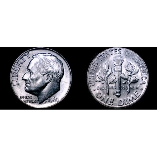 1960-D Roosevelt Dime Silver