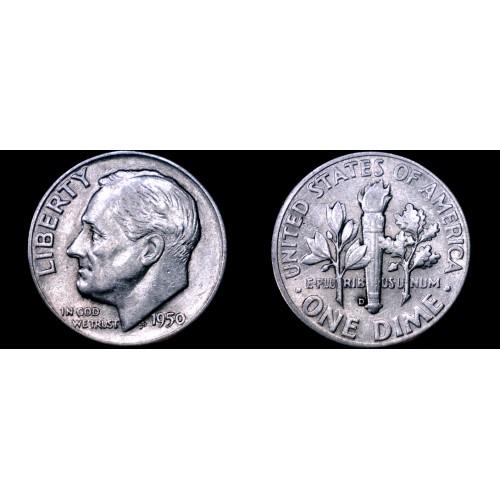 1950-D Roosevelt Dime Silver