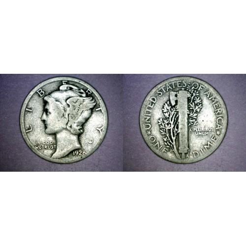 1928-P Mercury Dime Silver