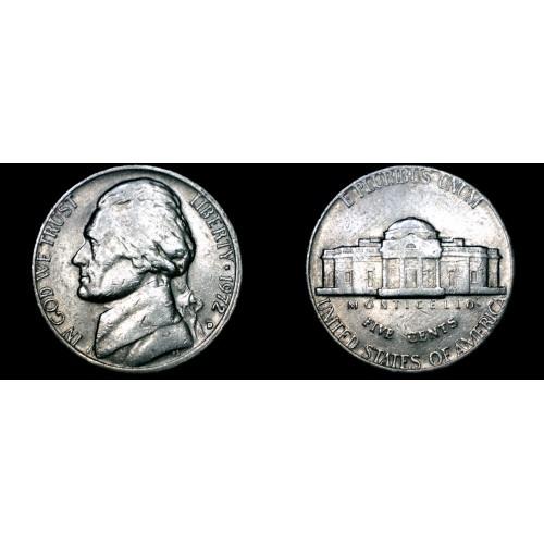 1972-D Jefferson Nickel