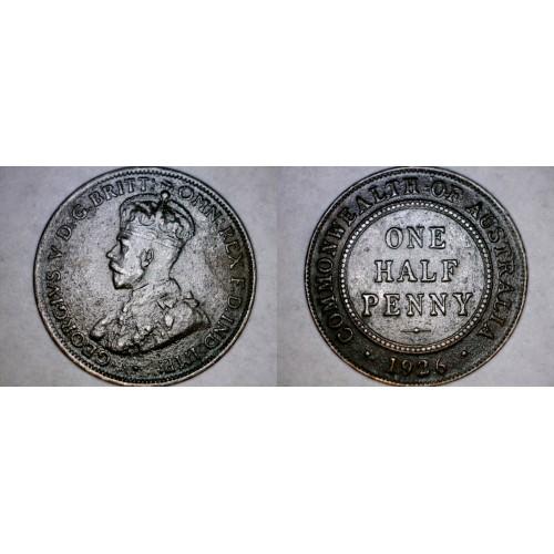 1926 Australian Half Penny World Coin - Australia