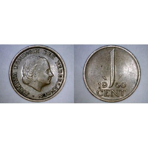 1960 Netherlands 1 Cent World Coin