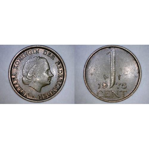 1975 Netherlands 1 Cent World Coin