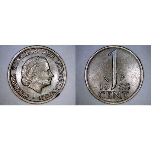 1966 Netherlands 1 Cent World Coin
