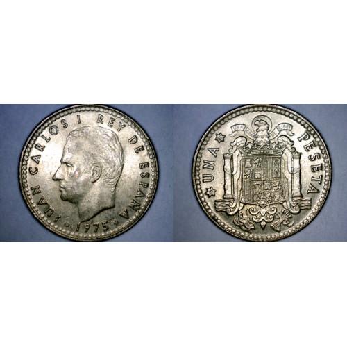 1975 (80) Spanish 1 Peseta World Coin - Spain