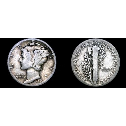 1935-P Mercury Dime Silver