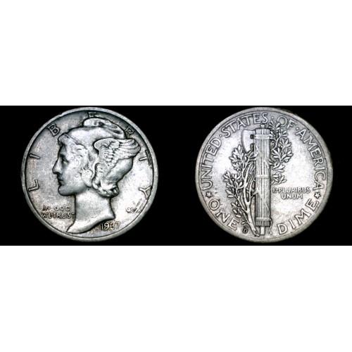 1937-D Mercury Dime Silver