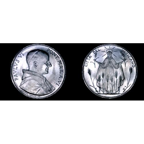 1968 Vatican City 5 Lire World Coin - Catholic Church Italy