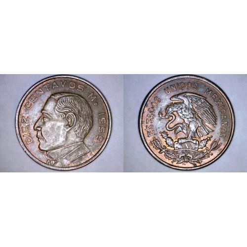 1959 Mexican 10 Centavo World Coin - Mexico
