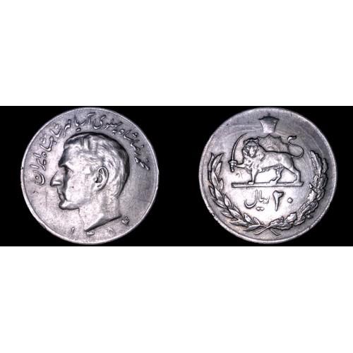 1975 (SH1354) Iranian 20 Rial World Coin - Iran