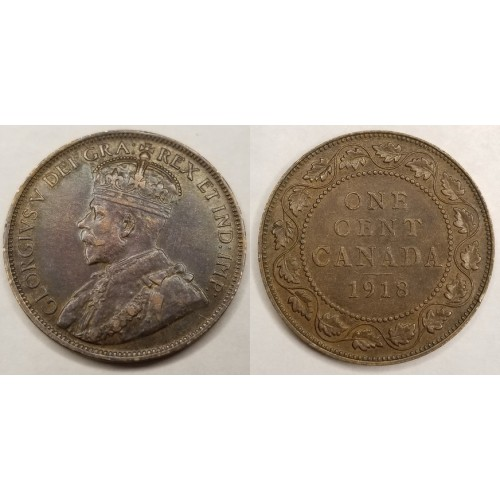 1918 Canada 1 Large Cent World Coin Canada Coins Paper Money Bullion Webstore Online Auction