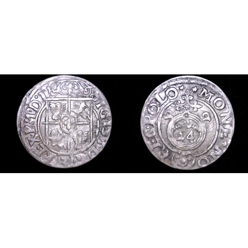 (16)22 Poland 3 Polker World Silver Coin -  Sigmund III
