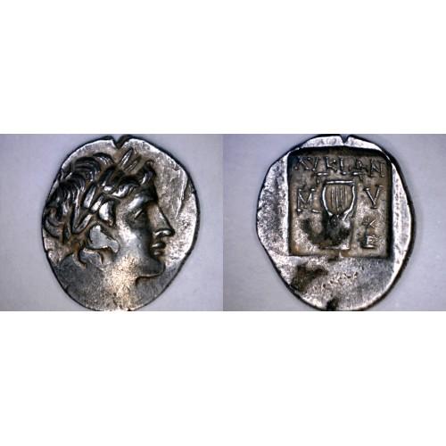 167-100BC Lycia Myra AR Drachm Coin - Ancient Greece - Asia Minor