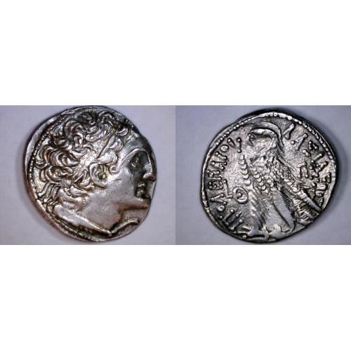 80-58BC Ptolemy XII Neo Dionysos AR Tetradrachm Coin - Ptolemaic Kingdom