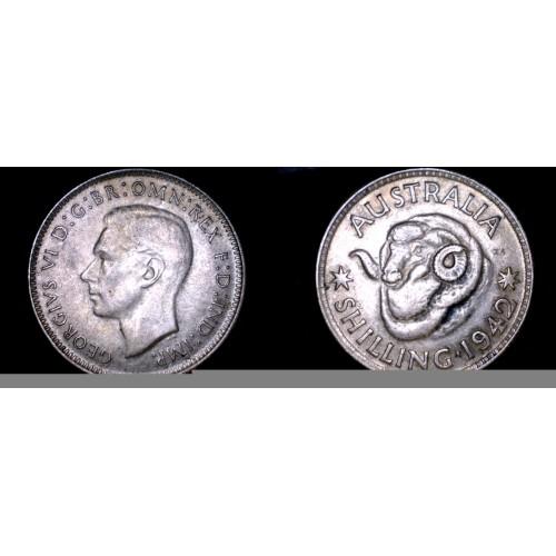1942(m) Australian 1 Shilling World Silver Coin - Australia