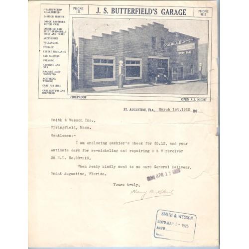 FL St. Augustine J. S. Butterfield's Garage Dodge Brothers Motor Cars, Goo~103