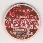 MI Eastmanville Milk Bottle Cap Name/Subject: Green Vale Farm Chocolate Fl~110