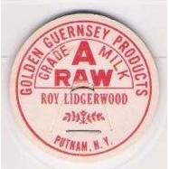 New York Putnam Milk Bottle Cap Name/Subject: Roy Lidgerwood Golden Guerns~167