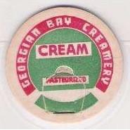 CAN Parry Sound Milk Bottle Cap Name/Subject: Georgian Bay Creamery Cream~93