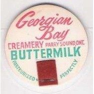 CAN Parry Sound Milk Bottle Cap Name/Subject: Georgian Bay Creamery LTD. B~95