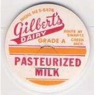 MI Swartz Creek Milk Bottle Cap Name/Subject: Gilbert's Dairy ~99