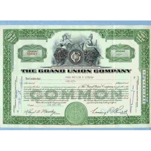 DE na Stock Certificate Company: Grand Union Company ~41