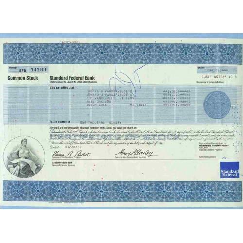 MI Troy Stock Certificate Company: Standard Federal Bank ~83