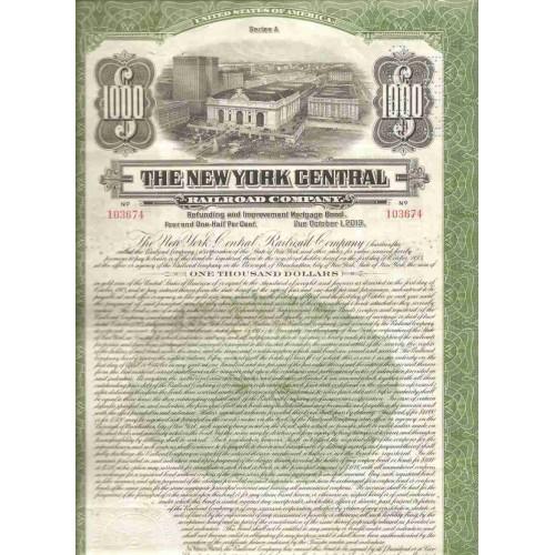New York New York City Stock Certificate Company: New York Central Railroa~107