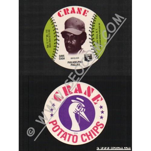 Sport Baseball Discs Name: Cash, Dave Infielder Philadelphia Phillies~443
