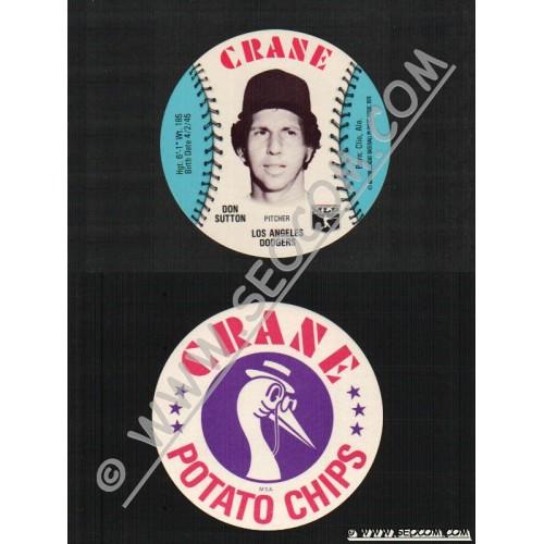 Sport Baseball Discs Name: Sutton, Don Pitcher Los Angeles Dodgers~493