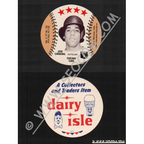 Sport Baseball Discs Name: Cardenal, Jose Outfielder Chicago Cubs~507
