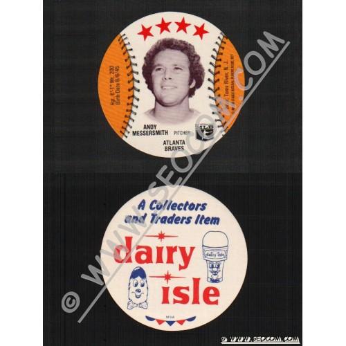 Sport Baseball Discs Name: Messersmith, Andy Pitcher Atlanta Braves~517