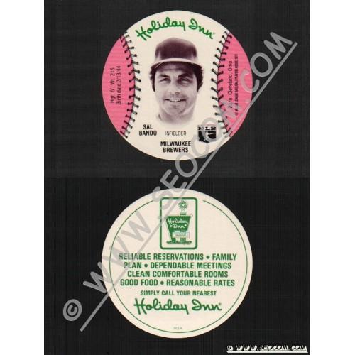 Sport Baseball Discs Name: Bando, Sal Infielder Milwaukee Brewers~523