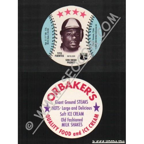 Sport Baseball Discs Name: Fuentes, Tito Infielder San Diego Padres~543