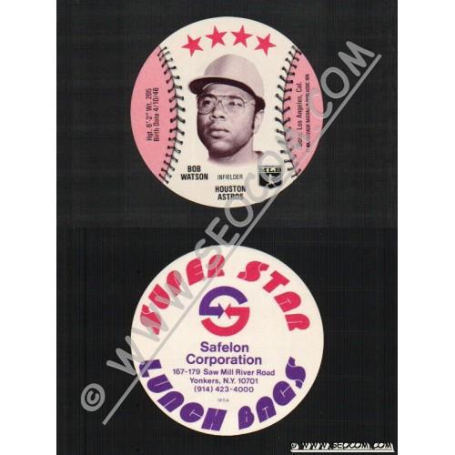 Sport Baseball Discs Name: Watson, Bob Infielder Houston Astros~580