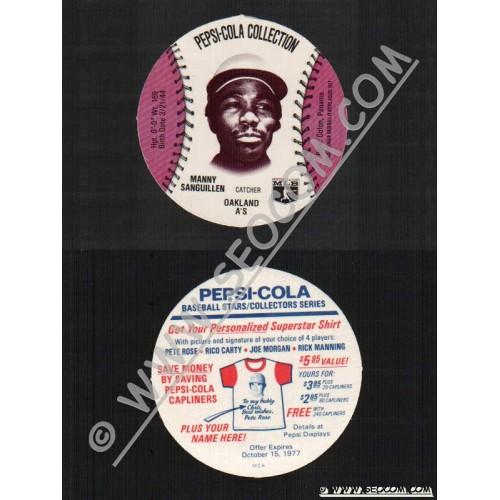 Sport Baseball Discs Name: Sanguillen, Manny Catcher Oakland A'S~586