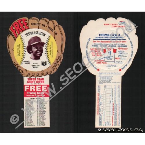 Sport Baseball Discs Name: Blanks, Larvell Infielder Cleveland Indians~638