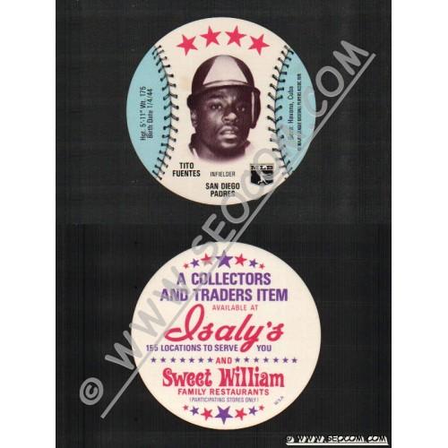 Sport Baseball Discs Name: Fuentes, Tito Infielder San Diego Padres~690