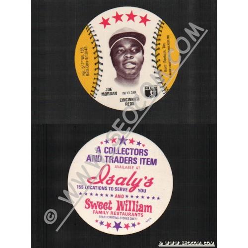 Sport Baseball Discs Name: Morgan, Joe Infielder Cincinnati Reds~715